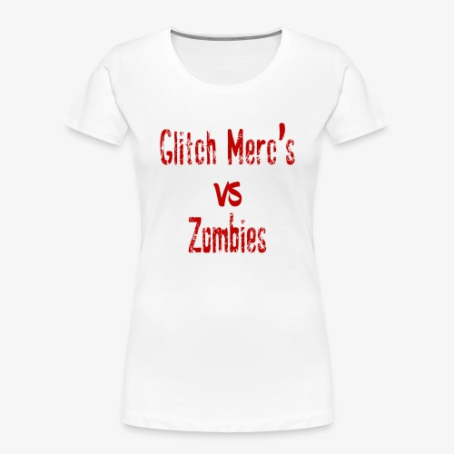 glitch zombie red - Women's Premium Organic T-Shirt