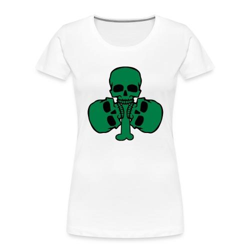 Skull Shamrock w/ Teeth - Women's Premium Organic T-Shirt