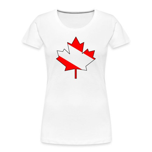 Maple Leaf with clear interior! - Women's Premium Organic T-Shirt