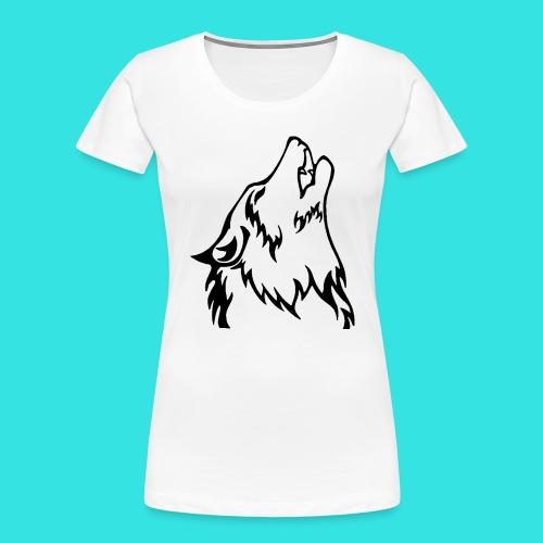 Wolf (back) - Women's Premium Organic T-Shirt