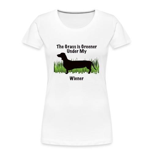 Wiener Greener Dachshund - Women's Premium Organic T-Shirt