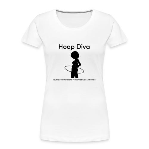 Hoop Diva Black Silhouette - Women's Premium Organic T-Shirt