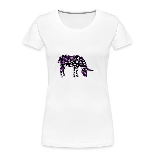 Unicorn Hearts purple - Women's Premium Organic T-Shirt