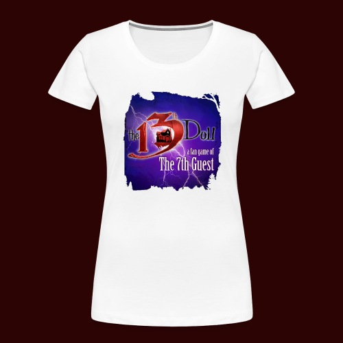 The 13th Doll Logo With Lightning - Women's Premium Organic T-Shirt