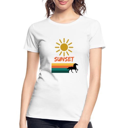 Sunset on vacation - Women's Premium Organic T-Shirt