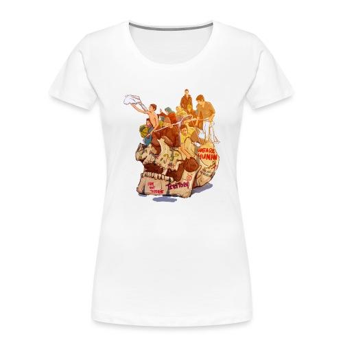 Skull & Refugees - Women's Premium Organic T-Shirt