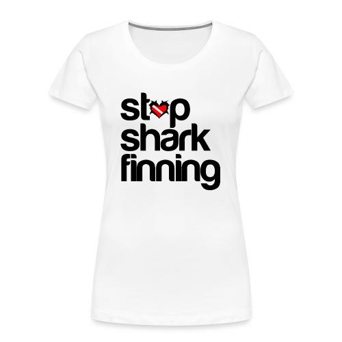 Stop Shark Finning - Women's Premium Organic T-Shirt