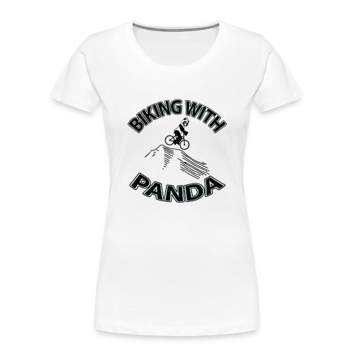 Biking with Panda - Women's Premium Organic T-Shirt