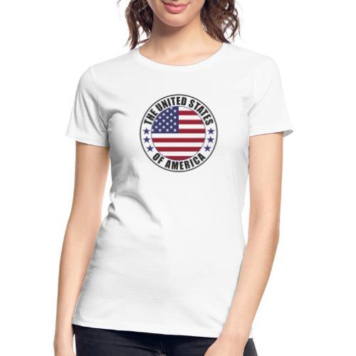 The United States of America - USA - Women's Premium Organic T-Shirt