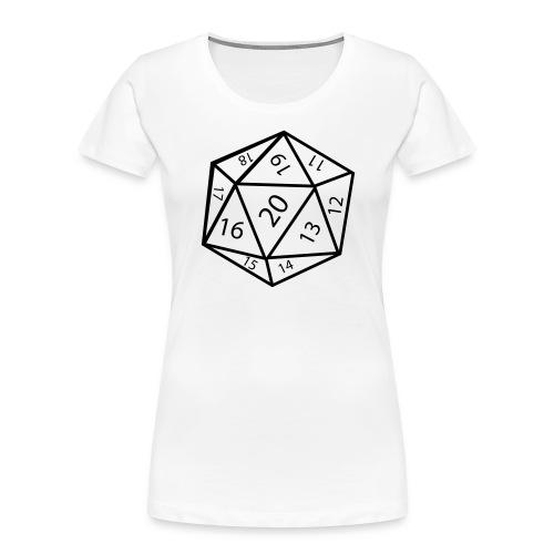20_sided_dice - Women's Premium Organic T-Shirt