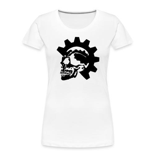 Gearhead Skull - Women's Premium Organic T-Shirt