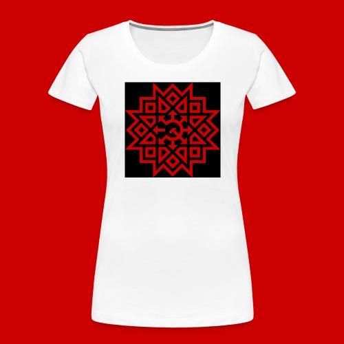 Chaos Communism Button - Women's Premium Organic T-Shirt