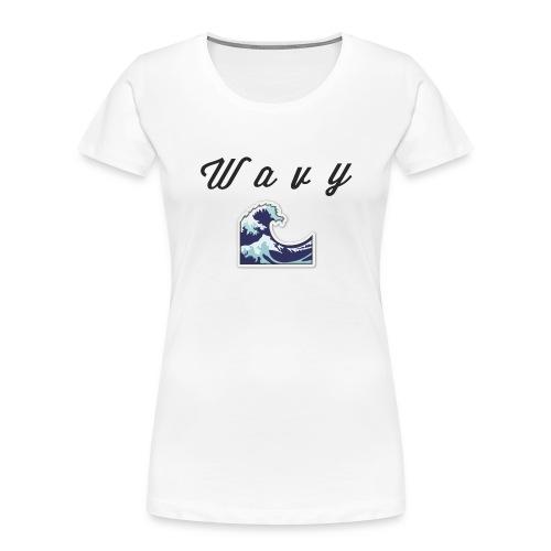 Wavy Abstract Design. - Women's Premium Organic T-Shirt