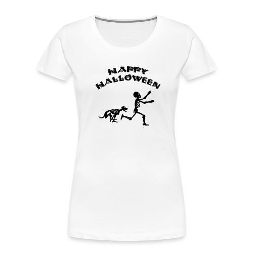 Halloween Boy and Dog - Women's Premium Organic T-Shirt