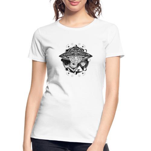 Egyptian Pharaoh Pyramid Alien UFO - Women's Premium Organic T-Shirt