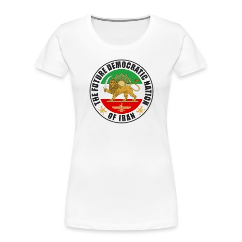 Iran Emblem Old Flag With Lion - Women's Premium Organic T-Shirt