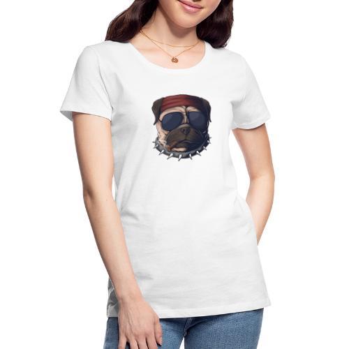Dog head smoke - Women's Premium Organic T-Shirt