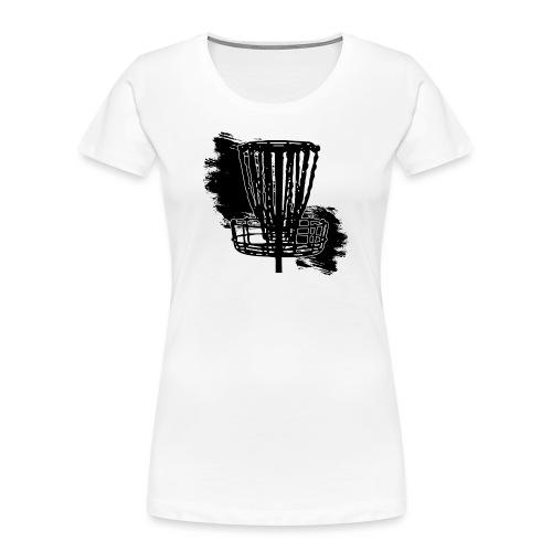 Disc Golf Basket Paint Black Print - Women's Premium Organic T-Shirt