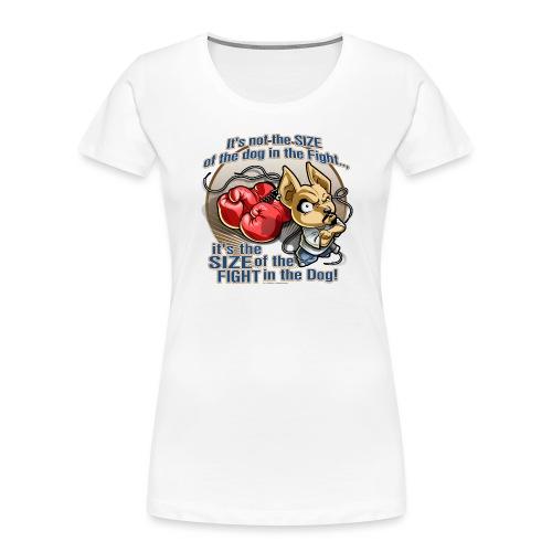Dog in fight by RollinLow - Women's Premium Organic T-Shirt