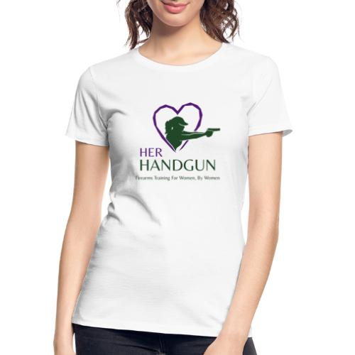 Official HerHandgun Logo with Slogan - Women's Premium Organic T-Shirt