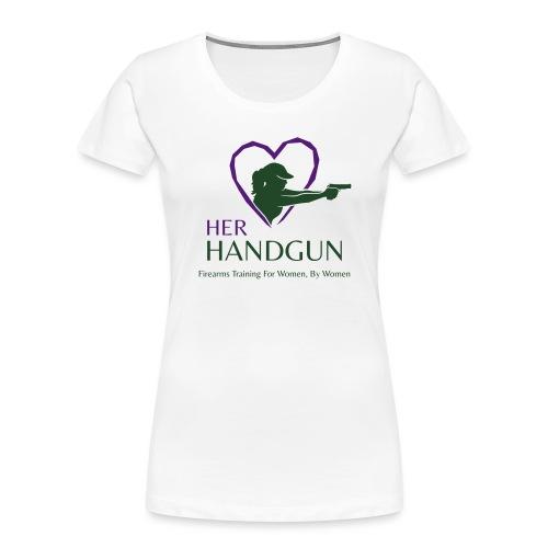 Official HerHandgun Logo with Slogan - Women's Premium Organic T-Shirt