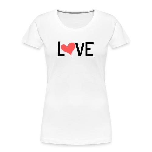 LOVE heart - Women's Premium Organic T-Shirt
