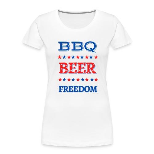 BBQ BEER FREEDOM - Women's Premium Organic T-Shirt
