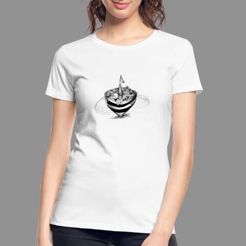 Wolfman Originals Black & White 15 - Women's Premium Organic T-Shirt