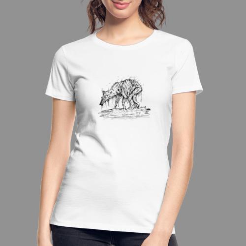 Wolfman Originals Black & White 13 - Women's Premium Organic T-Shirt