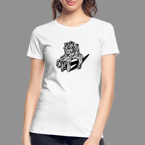 Wolfman Originals Black & White 19 - Women's Premium Organic T-Shirt