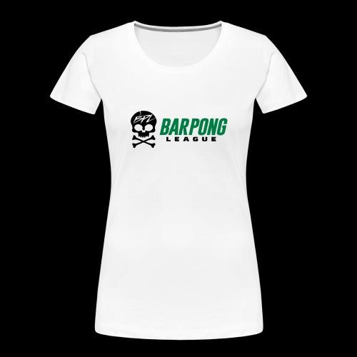 Bar Pong League Wide Logo - Women's Premium Organic T-Shirt