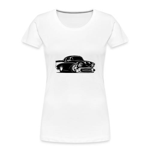 Classic American Hot Rod Car - Women's Premium Organic T-Shirt