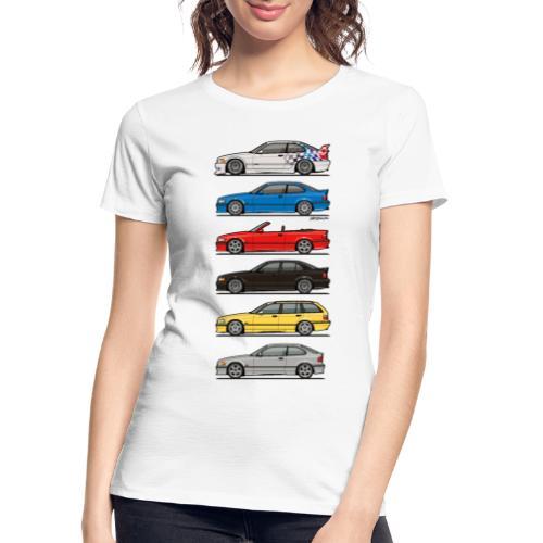 Stack of E36 Variants - Women's Premium Organic T-Shirt