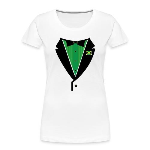Jamaican Tuxedo Green - Women's Premium Organic T-Shirt