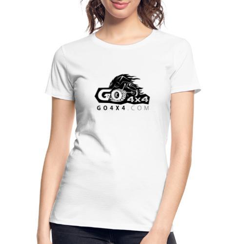 go bw white text black - Women's Premium Organic T-Shirt