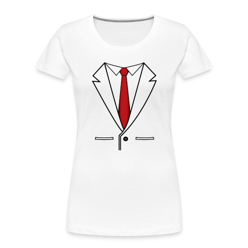 Suit and Red Tie - Women's Premium Organic T-Shirt