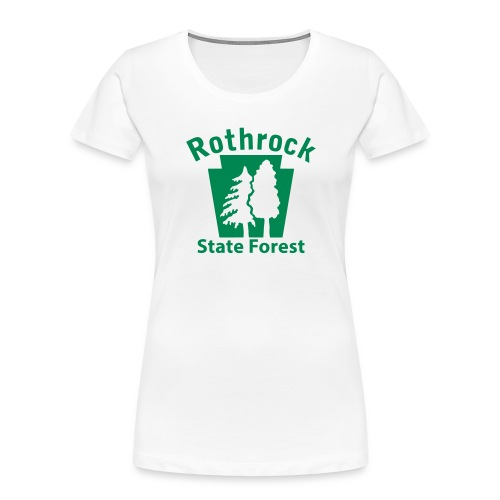 Rothrock State Forest Keystone (w/trees) - Women's Premium Organic T-Shirt