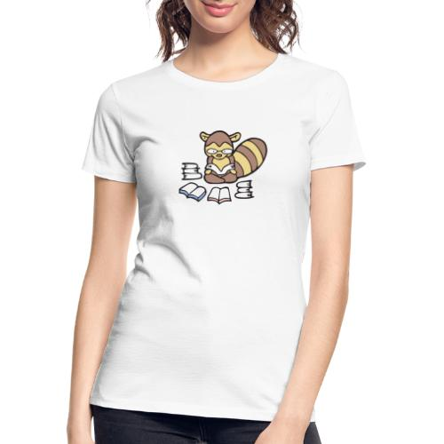 Reading Raccoon - Women's Premium Organic T-Shirt