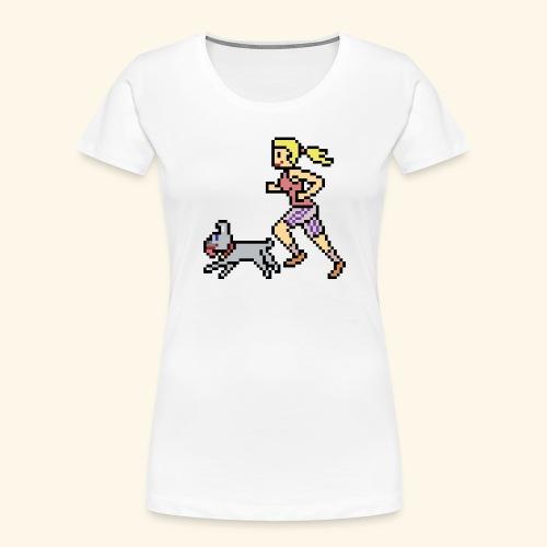RunWithPixel - Women's Premium Organic T-Shirt