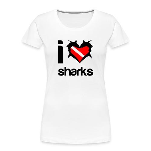 I Love Sharks - Women's Premium Organic T-Shirt