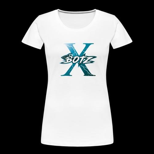 BOTZ X Logo Plain - Women's Premium Organic T-Shirt