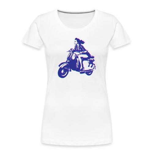 Cute Vespa Scooter Girl - Women's Premium Organic T-Shirt