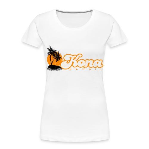 Kona Hawaii - Women's Premium Organic T-Shirt