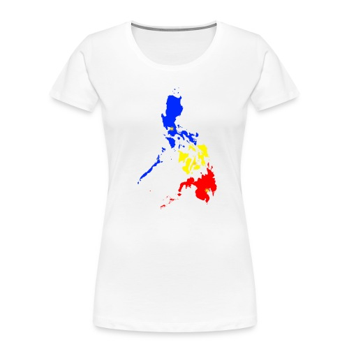 Philippines map art - Women's Premium Organic T-Shirt