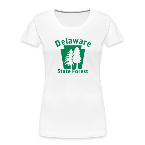 Delaware State Forest Keystone (w/trees) - Women's Premium Organic T-Shirt