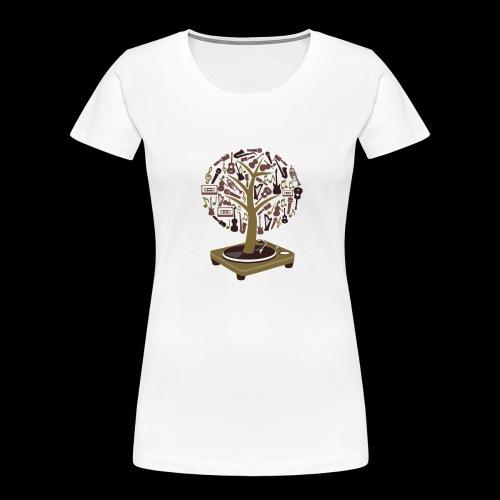 Turntable Tree of Music - Women's Premium Organic T-Shirt