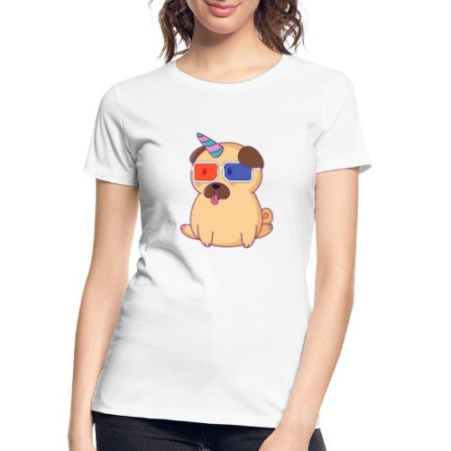 Dog with 3D glasses doing Vision Therapy! - Women's Premium Organic T-Shirt