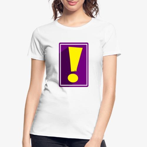 Purple Whee! Shadow Exclamation Point - Women's Premium Organic T-Shirt