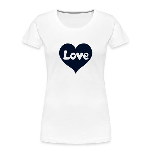 Love Heart - Women's Premium Organic T-Shirt