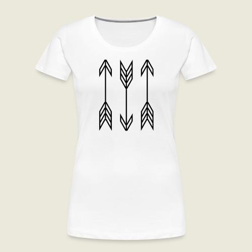 arrow symbols - Women's Premium Organic T-Shirt